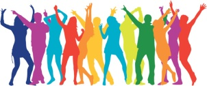 party-crowd-rainbow-people-silhouette